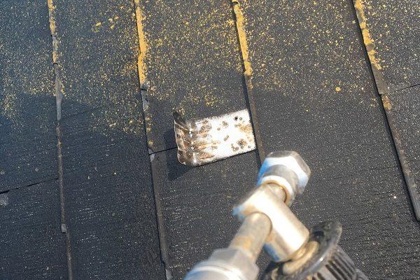 東京都板橋区 屋根塗装 足場設置 高圧洗浄