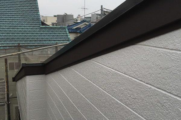 東京都板橋区 屋根塗装 外壁塗装 付帯部塗装 破風板のリフォーム方法 金属板金巻き